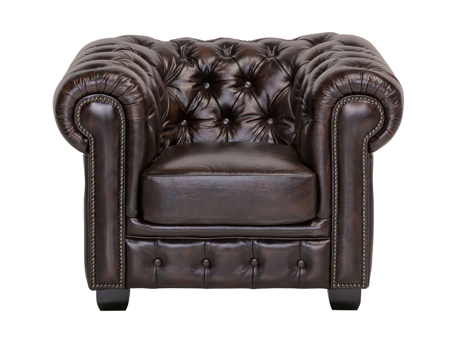 chesterfield sessel echtleder braun couch b rom bel polsterm bel neu ebay. Black Bedroom Furniture Sets. Home Design Ideas