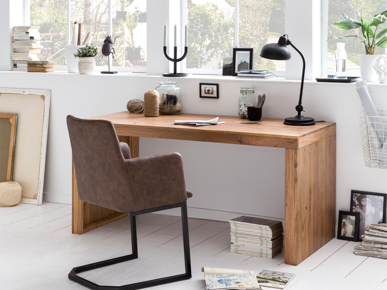 Schreibtisch Esstisch Hankey 160x70 Akazie Holzmöbel